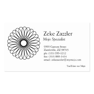 Black Spirograph Business Card