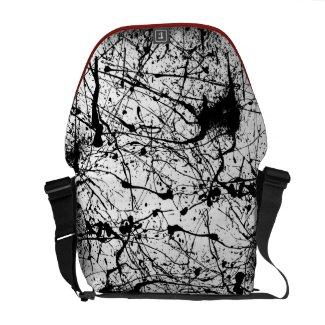 Black Splatter messenger bag