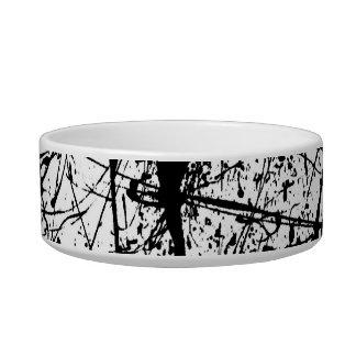 Black Splatter pet bowl Cat Food Bowl