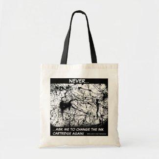 Black Splatter tote bag