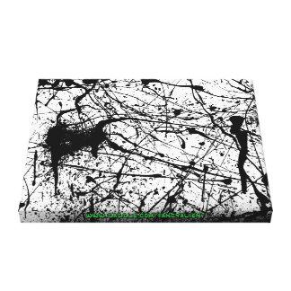 Black Splatter wrapped canvas Canvas Print