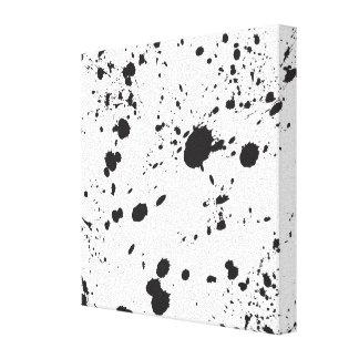 Black Splattered Paint Canvas Print