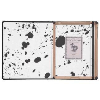 Black Splattered Paint iPad Folio Cases