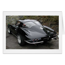 Black Split Window Classic Corvette Card