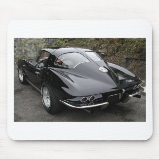 Black Split Window Classic Corvette Mouse Pad