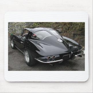 Black Split Window Classic Corvette Mouse Pad