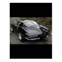Black Split Window Classic Corvette Postcard