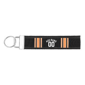 Black Sports Jersey Custom Name Number Wrist Keychain