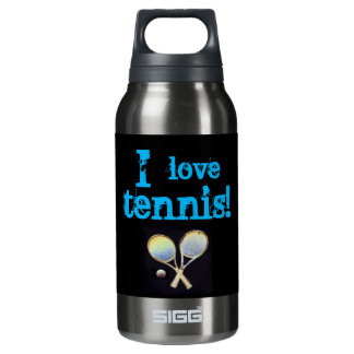 Black sports water thermo thermos water bottle