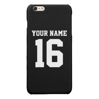 Black Sporty Team Jersey Glossy iPhone 6 Plus Case