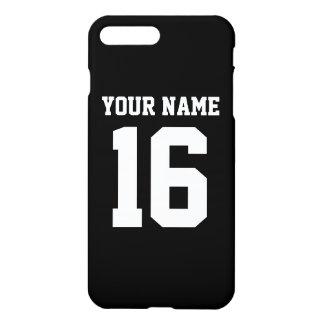 Black Sporty Team Jersey iPhone 7 Plus Case