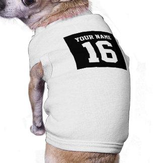 Black Sporty Team Jersey Pet T Shirt