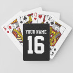 Black Sporty Team Jersey Playing Cards