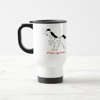 BLACK SPOT APPALOOSA COFFEE TRAVEL MUG CUSTOM
