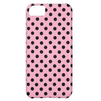Black Spot Polka Dot On Pink Case For iPhone 5C