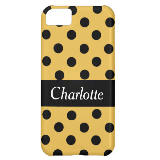 Black Spot Polka Dot Personalized Phone Case Cover For iPhone 5C
