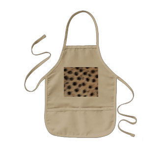 black spotted Cheetah fur or Skin Texture Template Apron