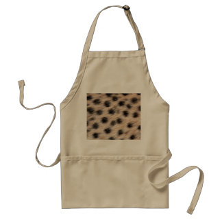 black spotted Cheetah fur or Skin Texture Template Aprons