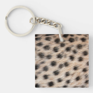 black spotted Cheetah fur or Skin Texture Template Keychain