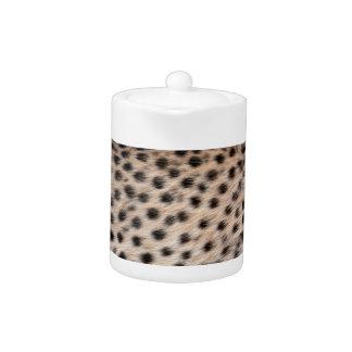 black spotted Cheetah fur or Skin Texture Template Teapot