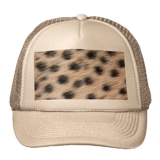 black spotted Cheetah fur or Skin Texture Template Trucker Hat