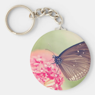 Black Spotted Crow Butterfly Keychain