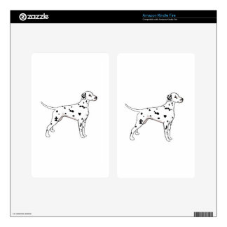 Black-Spotted Dalmatian Decals For Kindle Fire