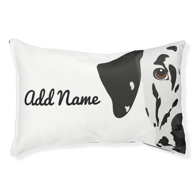 Black Spotted Dalmatian Dog Bed