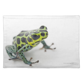 Black Spotted Green Poison Dart Frog Cloth Placemat