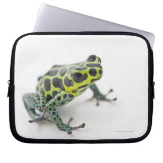 Black Spotted Green Poison Dart Frog Laptop Sleeve