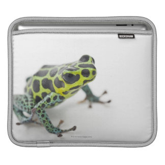 Black Spotted Green Poison Dart Frog Sleeve For iPads