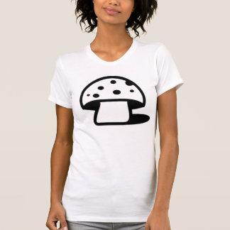 Black Spotted Mushroom Tee Shirts