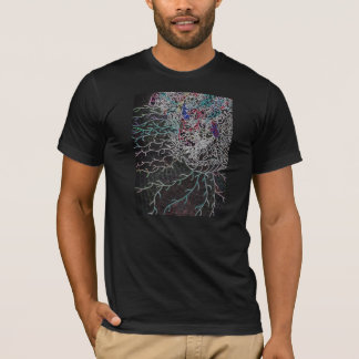 """Black Sprawl"" Print Men's T-shirt"