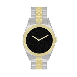 Black Sprinkle Two-Tone Watch Gold and Silver Tone