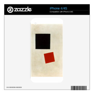 Black Square and Red Square by Kazimir Malevich Decal For The iPhone 4