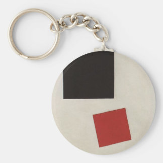 Black Square and Red Square by Kazimir Malevich Keychain