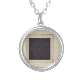 Black Square by Kazimir Malevich Silver Plated Necklace