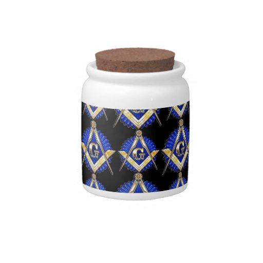 Black Square & Compass Candy Jar