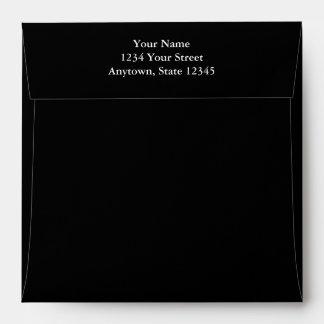 Black Square Envelope w/ Printed Return Address