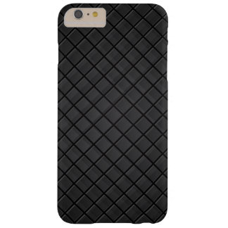 Black square grid pattern barely there iPhone 6 plus case