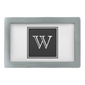 Black Square Monogram Belt Buckle