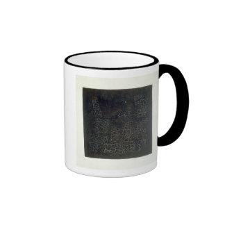 Black Square Ringer Mug