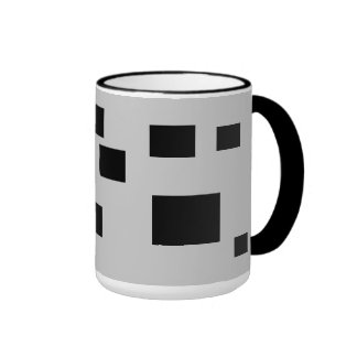 Black Squares And Rectangles Coffee Mugs