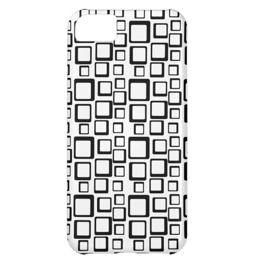 Black Squares Pattern on White iPhone 5 Cover