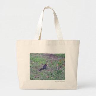 Black Squirrel Large Tote Bag