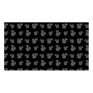 Black squirrel pattern Double-Sided standard business cards (Pack of 100)