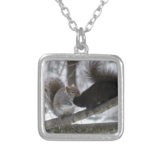 Black Squirrel Silver Plated Necklace