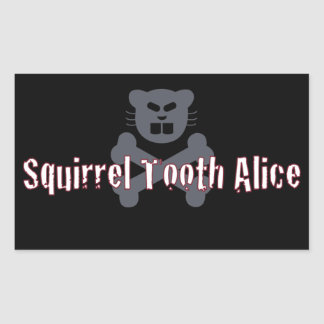 Black Squirrel Tooth Alice Stickers