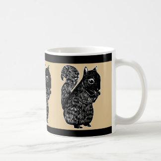 Black Squirrels Oak and Black Mug