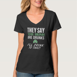Black St. Patrick's Day Tee - I'll Drink To That